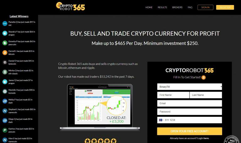 Get up to $400 daily - Crypto Robot 365 Review